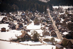 Shirakawa-vada nell'inverno Fotografia Stock
