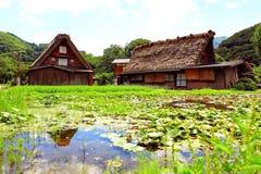 Shirakawa-vai a casa da quinta Fotos de Stock