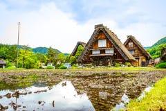 Shirakawa-vaya en primavera imagen de archivo libre de regalías