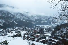 Shirakawa-vont le village historique images stock