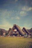 Shirakawago历史的村庄在日本为Gassh是著名的 库存图片