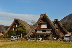 Shirakawago历史的村庄在日本 库存照片