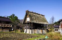 Shirakawago历史的村庄在日本 图库摄影