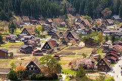 Shirakawago历史的村庄  库存照片