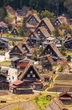Shirakawago历史的村庄  免版税库存照片