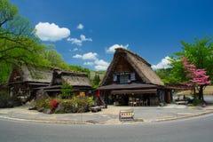 Shirakawago村庄,日本 库存图片