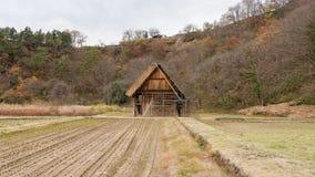 Shirakawago的建设中房子 免版税库存图片