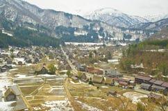 Shirakawago-Ansicht stockbilder
