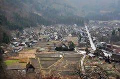 Shirakawago-Dorf lizenzfreie stockbilder