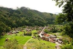 Shirakawago-Dorf Lizenzfreie Stockfotografie