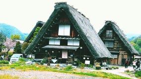 Shirakawago-Dorf Stockfotografie