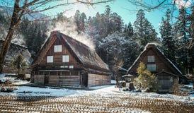 Shirakawago Historic Village in Gifu, Japan. Gifu, Japan - Dec 30, 2015. Historic Village of Shirakawago at sunny day in Gifu, Japan. Shirakawago was registered Stock Image