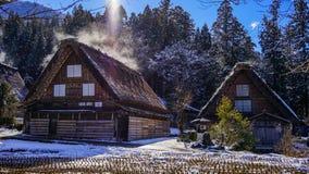 Shirakawago Historic Village in Gifu, Japan. Historic Village of Shirakawago with snow in Gifu, Japan. Shirakawago has over 100 unique gossho-zukuri houses which Royalty Free Stock Photos