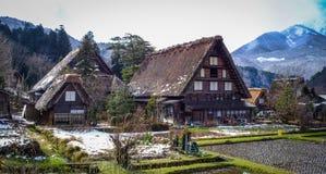 Shirakawago Historic Village in Gifu, Japan. Historic Village of Shirakawago at winter in Gifu, Japan. Shirakawago is one of Japan UNESCO World Heritage Sites Royalty Free Stock Photos