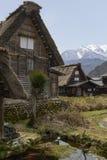 Shirakawago house. Idyllic scene of a traditional house in Shirakawago in the Japanese Northern Alps Royalty Free Stock Image