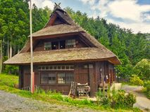 Shirakawago house in traditional village. Shirakawa, Ono District, Gifu Prefecture, JAPAN - Aug. 10 2017: Traditional and historical Japanese village Royalty Free Stock Photography