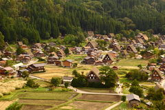 Shirakawago by, Japan Royaltyfri Bild