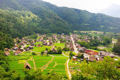 Shirakawago by, Japan Royaltyfri Fotografi