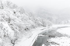 Shirakawago Japan Winter Stock Image