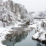 Shirakawago Japan Winter Stock Image