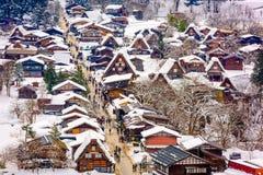 Shirakawago, Japan Winter Village royalty free stock image