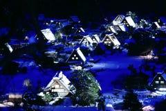 Shirakawago, Japan. World Heritage, Light up of Shirakawago, Japan Royalty Free Stock Photo