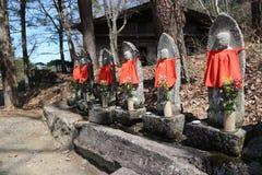 2019 04 09, Shirakawago, Japon Symboles religieux de Bouddha du Japon images libres de droits