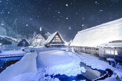 Shirakawago light up Stock Images