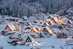 Shirakawago light-up Royalty Free Stock Photos