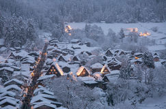 Shirakawago light-up Royalty Free Stock Image