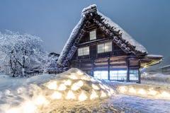 Shirakawago light up Stock Image