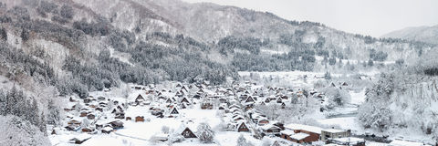 Shirakawago Panorama Royalty Free Stock Image