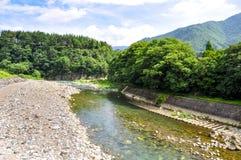 Shirakawago. A river at Shirakawago, Japan Stock Image