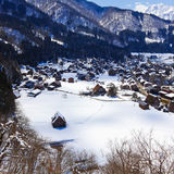 Shirakawago / Shiroyama Viewpoint Stock Photography