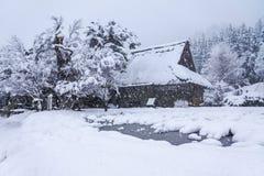 Shirakawago, village de patrimoine mondial, la destination de toutist Image libre de droits