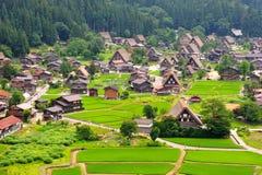 Shirakawago Village, Japan. Bird Eye View of Shirakawago Village, Japan Royalty Free Stock Images