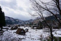 Shirakawago Village , one of UNESCO`s Word Heritage Sites royalty free stock photography