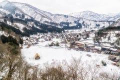 Shirakawago village in the winter Royalty Free Stock Images