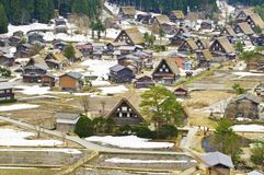 Shirakawago. Villages Old house in japan Royalty Free Stock Image