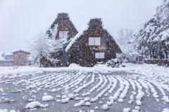 Shirakawago, villaggio del patrimonio mondiale, la destinazione di toutist Fotografia Stock Libera da Diritti