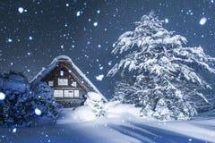 Shirakawago in winter, Japan Royalty Free Stock Photography