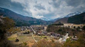 Shirakawago wioska Obrazy Royalty Free
