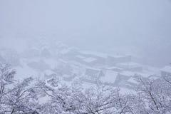 Shirakawago, world heritage village, the tourist destination Stock Images