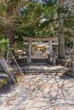 Shirakawahachiman relikskrin på den östliga ingången av Shirakawa Royaltyfri Fotografi
