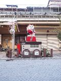 Shirakawako, Japan - April 15, 2018 : Maneki-Neko, a japan lucky cat on takayama street. Maneki-Neko, a japan lucky cat on takayama street royalty free stock photography