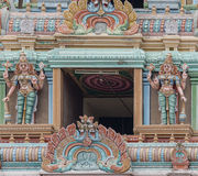 Shirangam寺庙Rajagopuram细节  图库摄影
