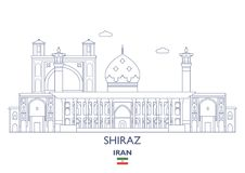 Shiraz City Skyline, Iran Photo stock