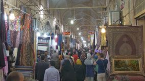 Shiraz Vakil Bazaar interior stock video footage