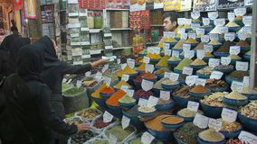 Shiraz Vakil Bazaar spices stock video footage