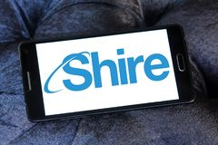 Shire pharmaceutical company logo Stock Photography